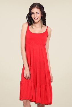 Trend Arrest Red Solid Dress - Mp000000000751913