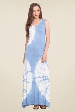 Trend Arrest Light Blue Tie Dye Maxi Dress