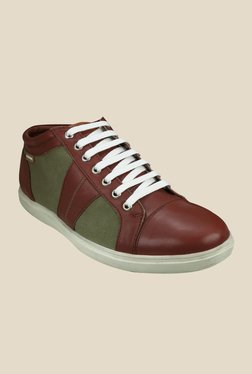 US Polo Assn. Tan & Green Sneakers