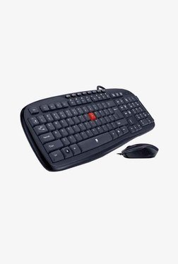 IBall Superio USB Keyboard And Mouse (Black)