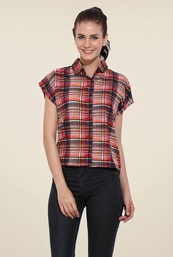 Trend Arrest Red & Black Checks Shirt