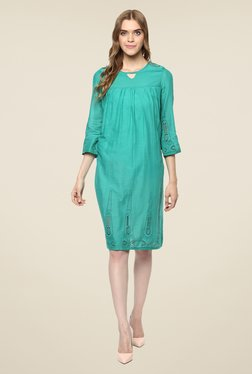 Color Cocktail Green Lace Dress