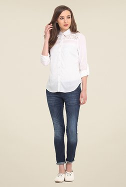 Trend Arrest White Lace Shirt