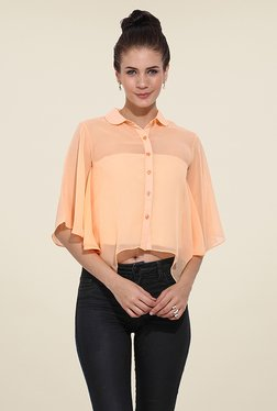 Trend Arrest Peach Solid Shirt