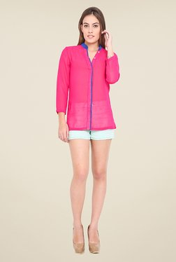 Trend Arrest Magenta Solid Shirt