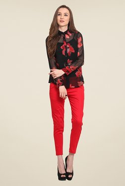 Trend Arrest Black Floral Print Shirt