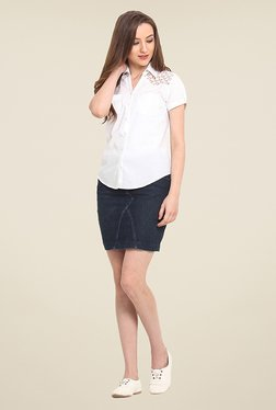 Trend Arrest White Solid Shirt