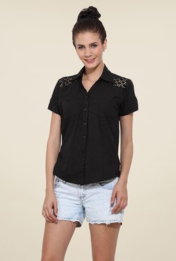 Trend Arrest Black Solid Shirt