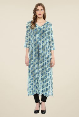 Color Cocktail Green Printed Tunic