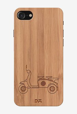 3 To Go Scooter Striped Real Wood Bamboo Case for iPhone 7