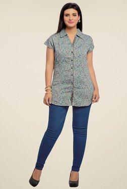 Zola Grey Floral Printed Shirt