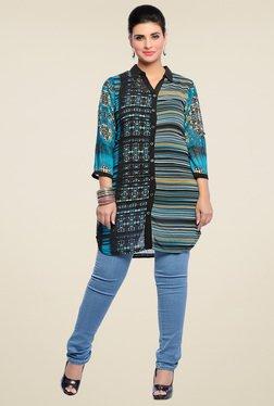 Zola Aqua Blue Chiffon Shirt
