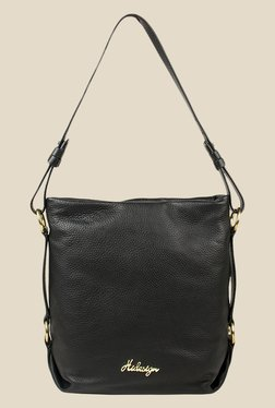 Hidesign Lucy 01 Black Leather Shoulder Bag