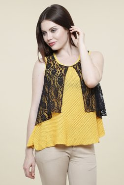Renka Yellow Lace Top