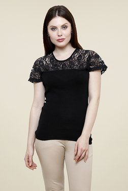 Renka Black Lace Top