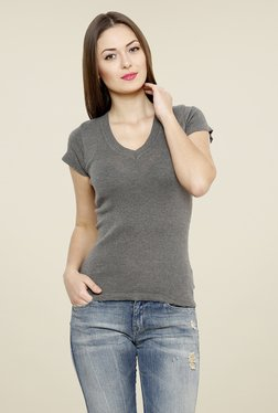 Renka Grey Solid Top