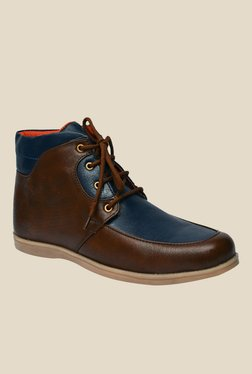 Molessi Brown & Navy Casual Boots
