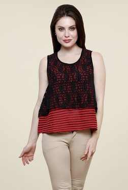 Renka Red Lace Top