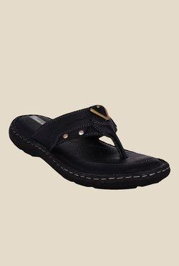 Bruno Manetti Black T-Strap Sandals