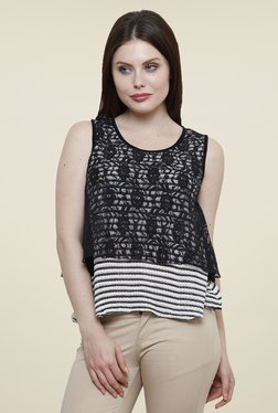 Renka White & Black Lace Top