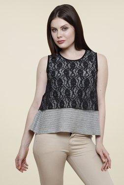 Renka Grey Lace Top