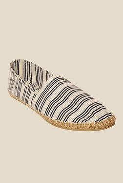 Bruno Manetti Beige & Black Espadrille Shoes