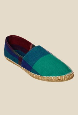 Bruno Manetti Green & Blue Espadrille Shoes