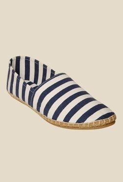 Bruno Manetti Beige & Navy Espadrille Shoes