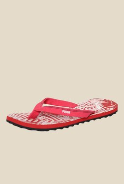 Puma Ronni DP Red & White Flip Flops