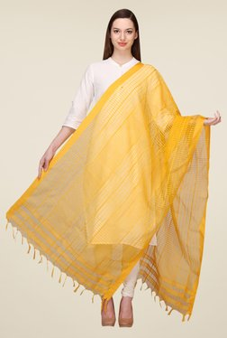 Aurelia Yellow Kationic Viscose Slub Dupatta