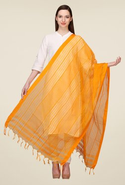Aurelia Orange Kationic Viscose Slub Dupatta