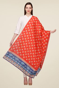 Aurelia Orange Voil Dupatta