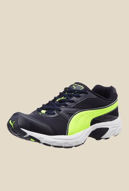 Puma Brilliance IDP Navy & Green Running Shoes