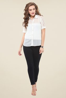 La Stella White Lace Shirt