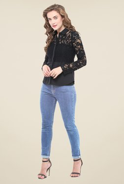 La Stella Black Lace Shirt