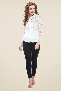 La Stella White Lace Shirt - Mp000000000764558