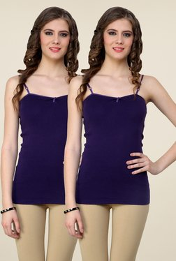 Renka Purple Solid Cami Top (Pack Of 2)