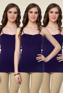 Renka Purple Solid Cami Top (Pack Of 3)