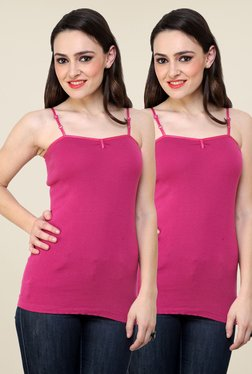 Renka Magenta Solid Cami Top (Pack Of 2)