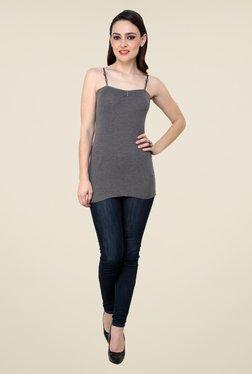 Renka Grey Solid Cami Top