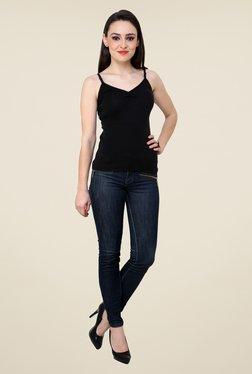 Renka Black Solid Cami Top