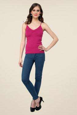 Renka Pink Solid Cami Top