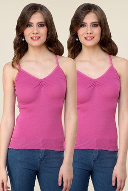 Renka Pink Solid Cami Top (Pack Of 2) - Mp000000000766684