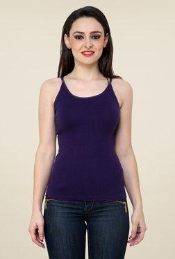 Renka Purple Solid Cami Top