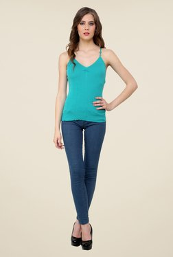 Renka Turquoise Solid Cami Top
