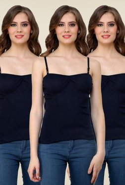 Renka Navy Solid Cami Top (Pack Of 3)