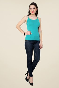Renka Turquoise Solid Cami Top - Mp000000000769292