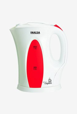 Inalsa Vapor 1.2 Liter 1300W Electric Kettle (White/Red)