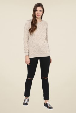Femella Beige Print Sweatshirt