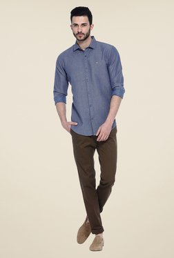 Basics Brown Solid Chinos - Mp000000000081946